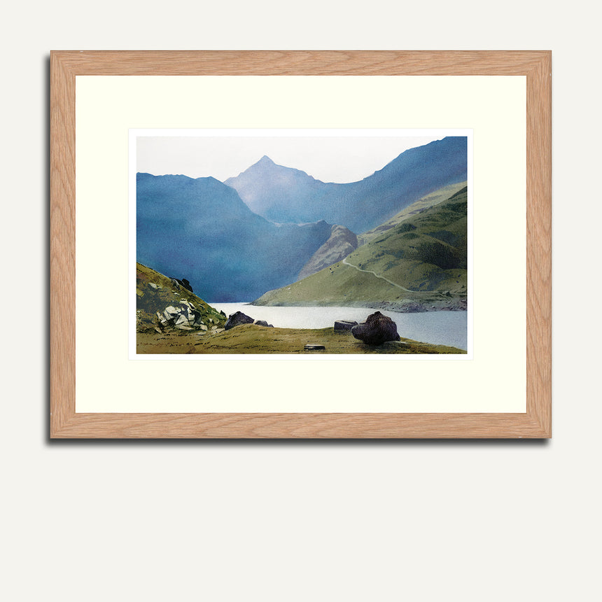 Framed - Snowdon from Llydaw.