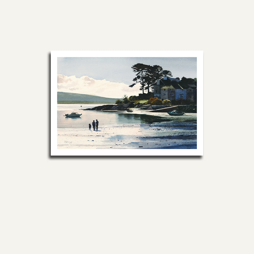 Print only, figures on Borth y Gest bay.