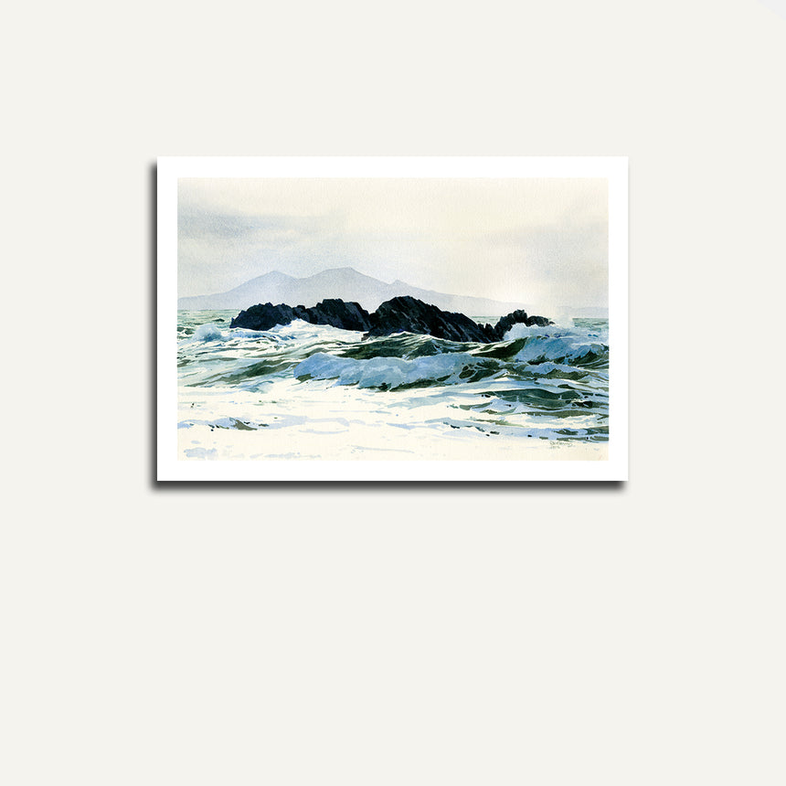 Print only - Rocks at Llanddwyn.