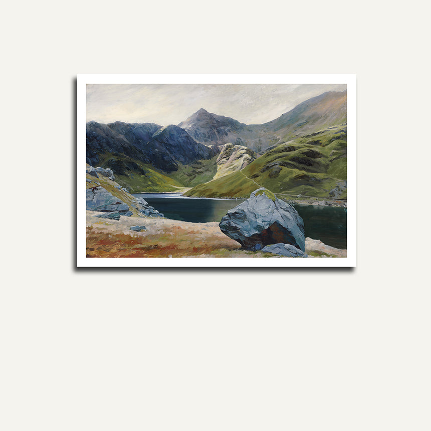 Print only - Snowdon from Llyn Llydaw.