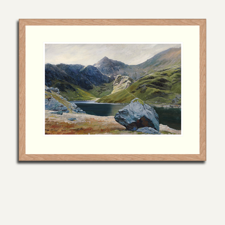 Framed - Snowdon from Llyn Llydaw.