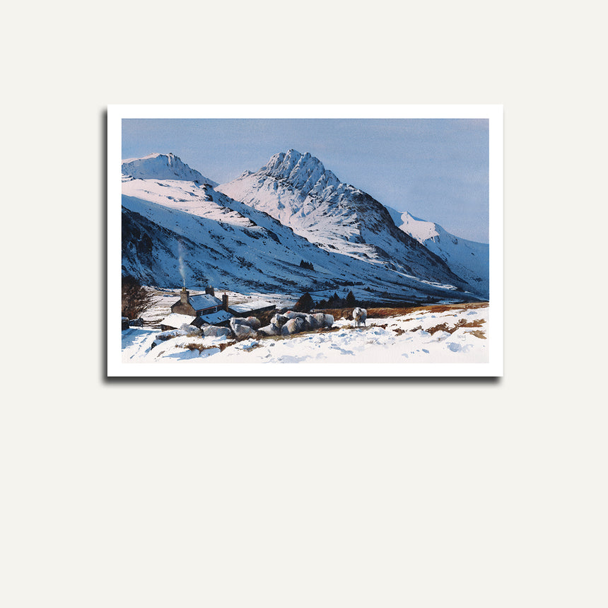 Print only - Tryfan from Tal y Braich.