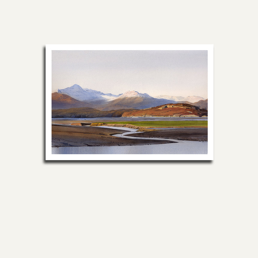 Print only - Snowdon from the Dwyryd estuary.