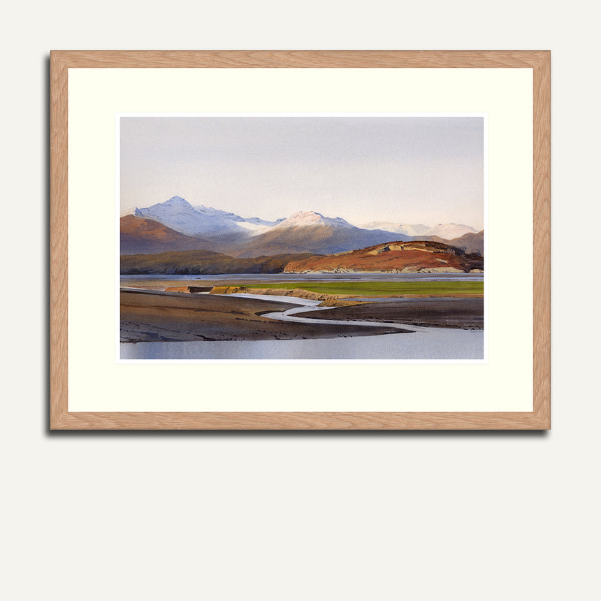 Framed - Snowdon from the Dwyryd estuary.