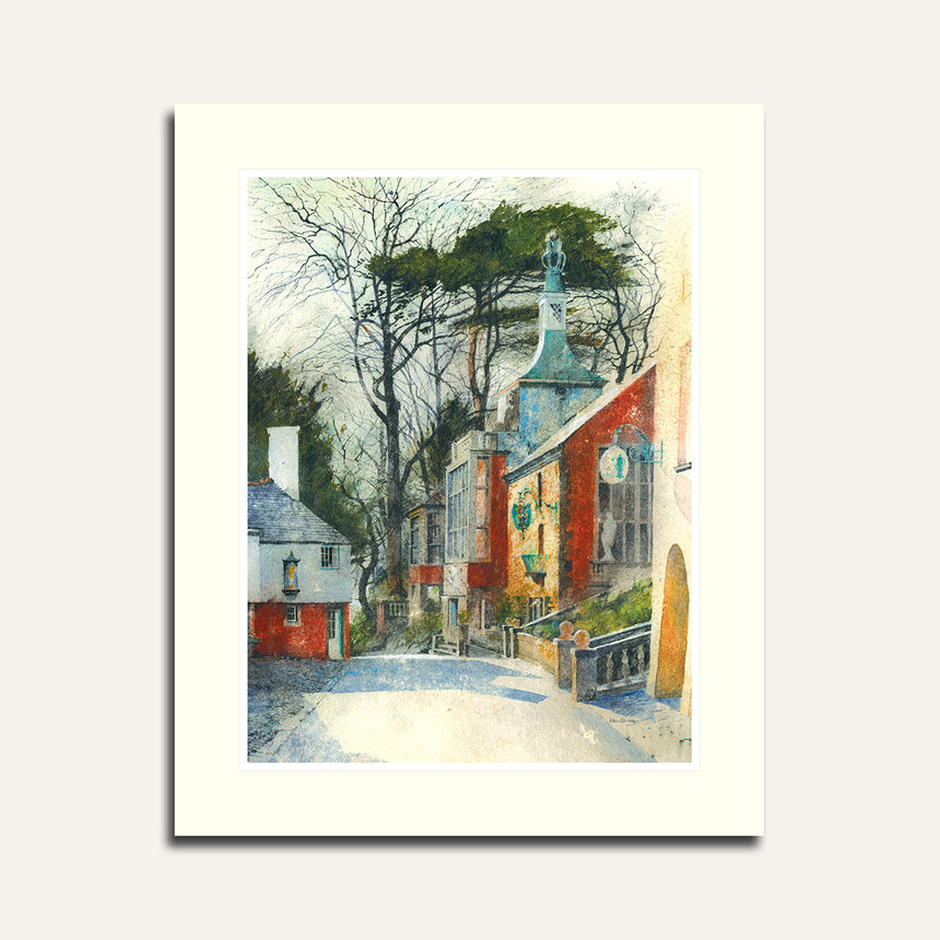 Mounted - Road to the Townhall, Portmeirion.
