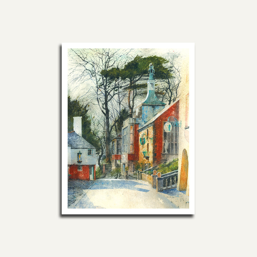 Print only - Road to the Townhall, Portmeirion.