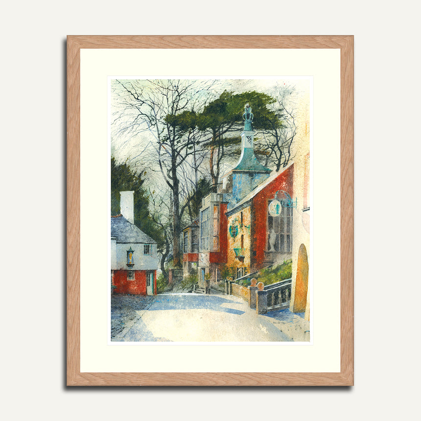 Framed - Road to Townhall, Portmeirion.