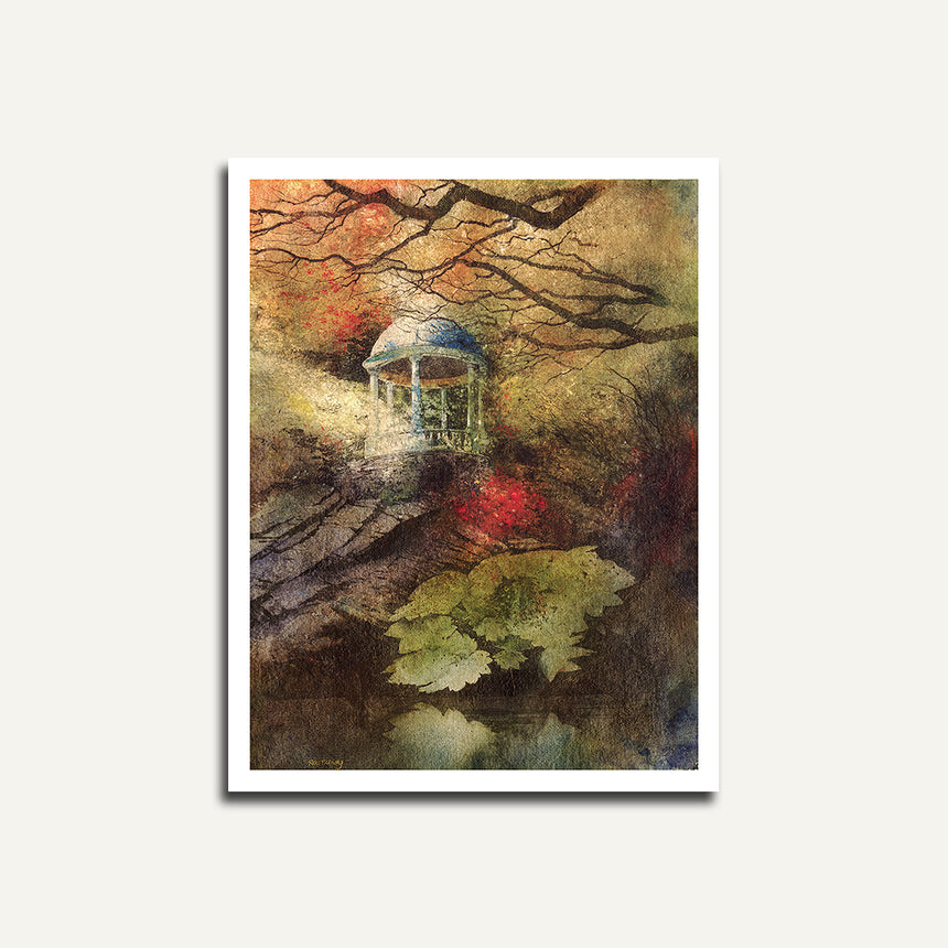 Print only - Gazebo, Portmeirion.