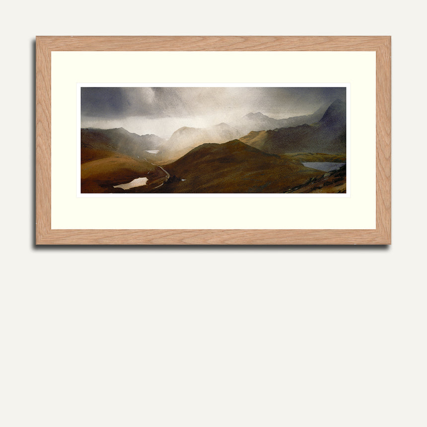 Framed - Three lakes. Snowdonia.