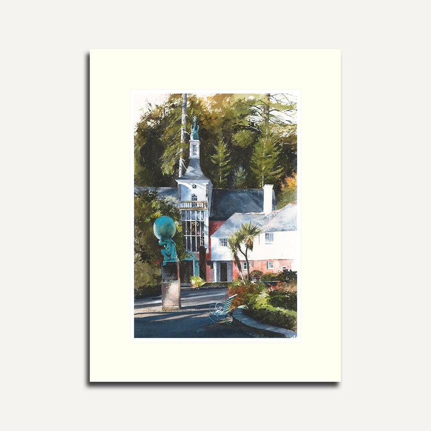 Mounted - Town Hall and Angel, Portmeirion.