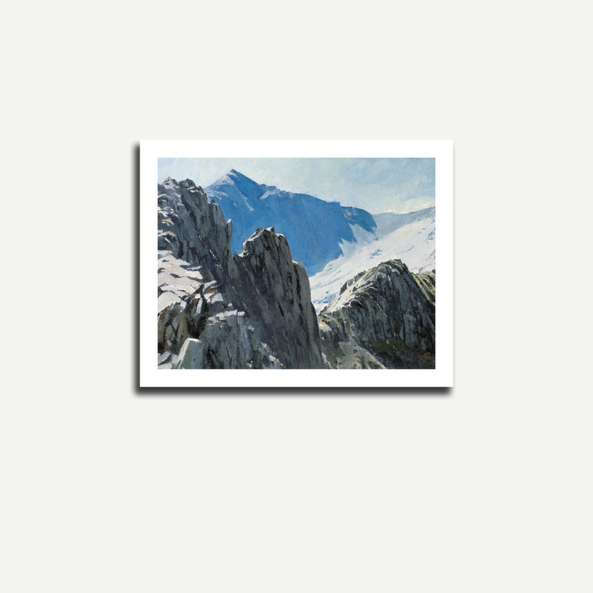 Print only - Snowdon from Crib Goch.