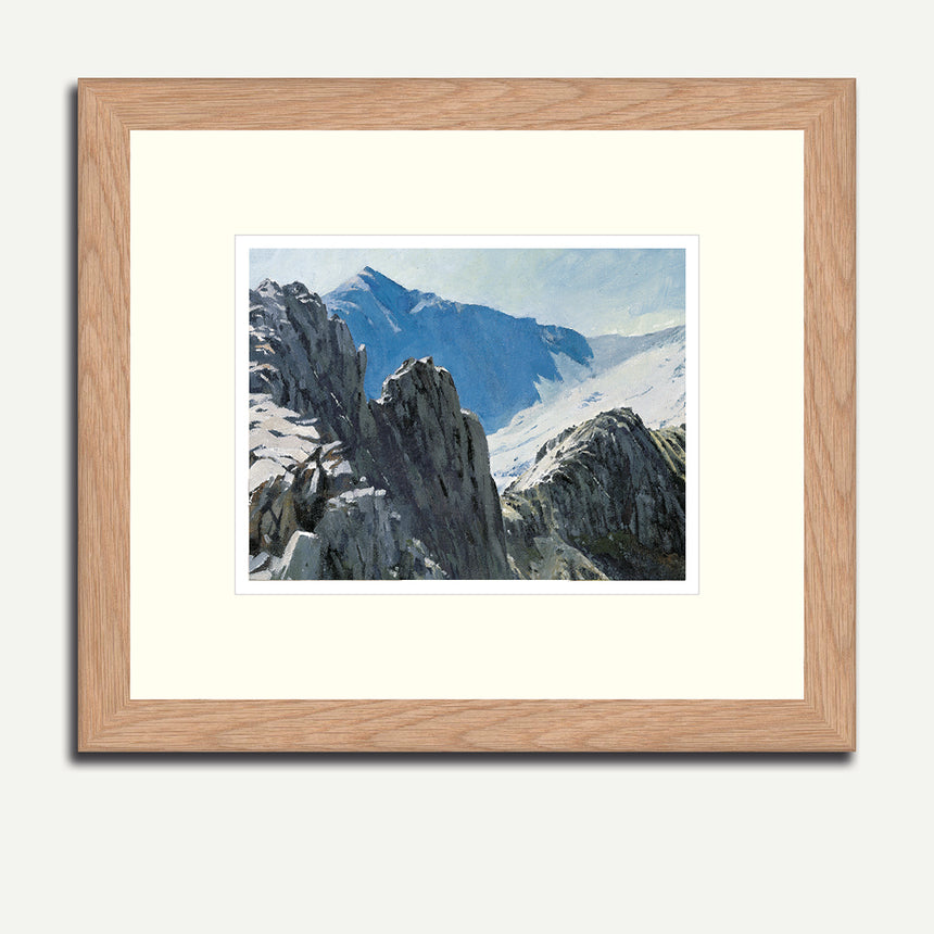 Framed - Snowdon from Crib Goch.