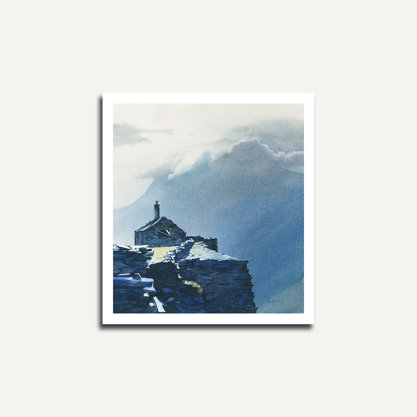 Print only - Ruin at Dinorwig Quarry.