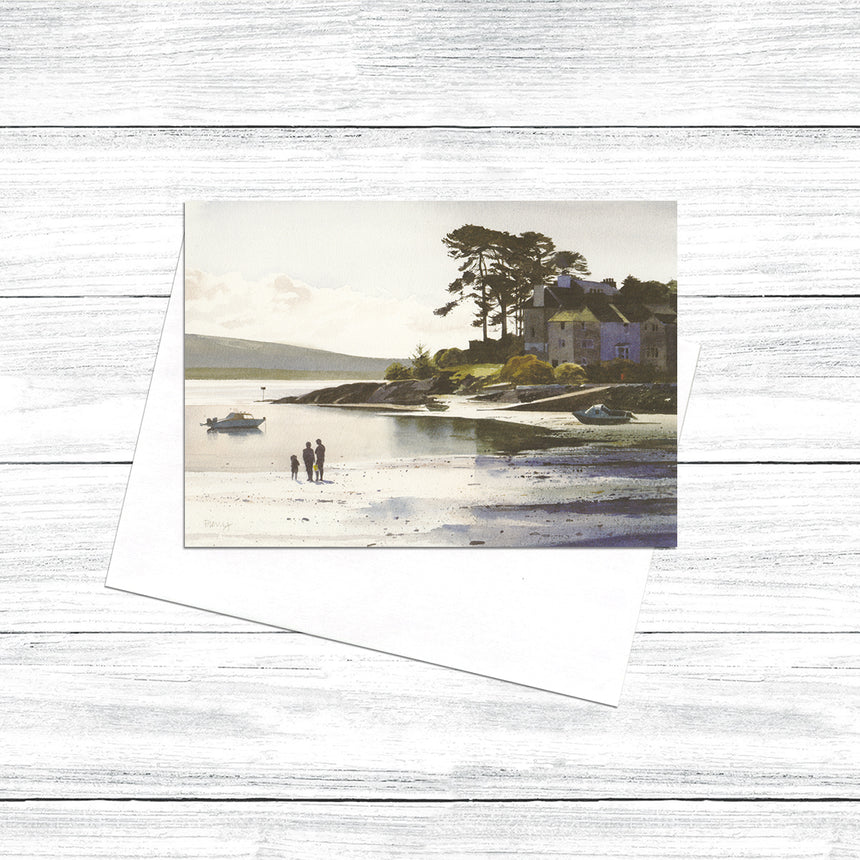 Family on the beach - Borth y Gest (Pack of 5)
