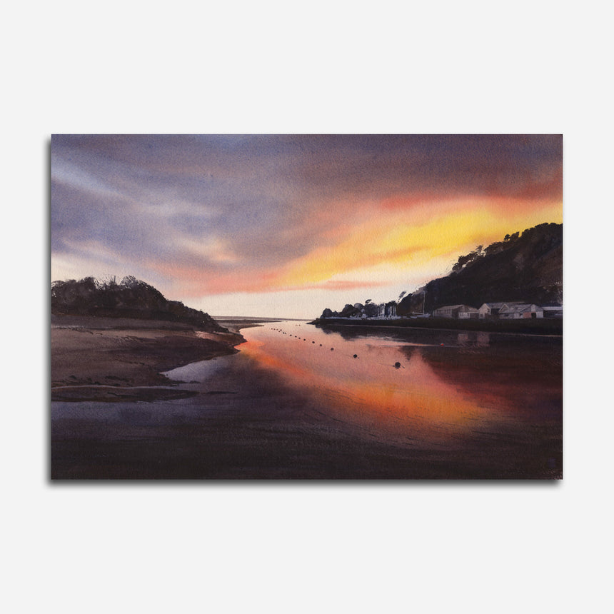 Evening glow - Porthmadog harbour. OR647