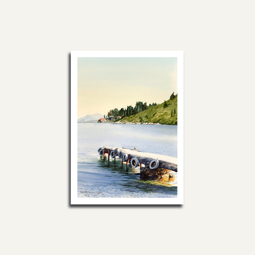 print only - Jetty at Kerasia.
