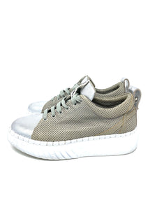 Silver And Grey Andia Fora Shoes, 7.5