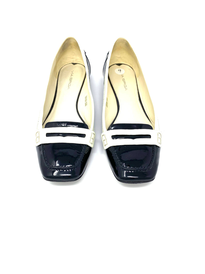 patent leather flats black white oxfords shoes