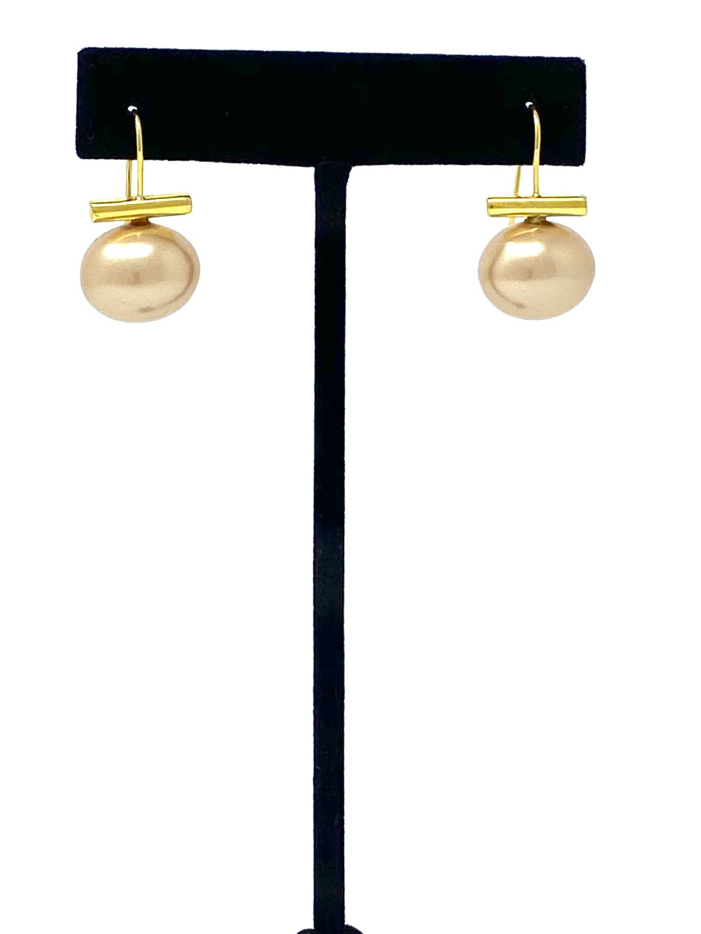 Ohelo Gold Pearl Earrings by Leighton Lam