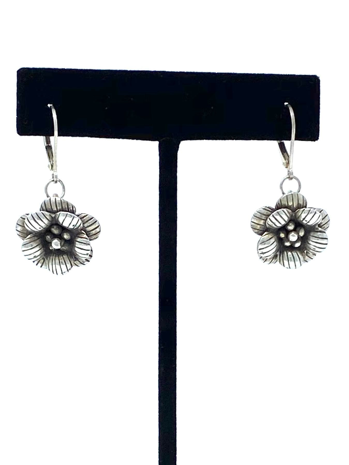 Silver Flower Earrings