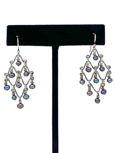 Silver Diamond Shaped Earrings