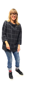 Gray Eileen Fisher Sweater, M