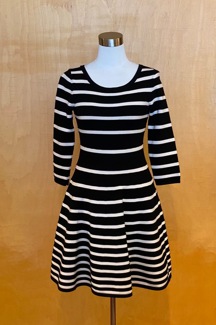 black and white milly dress