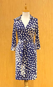 Blue DVF Vintage Justin Dress, M