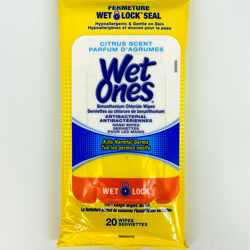 Wet Ones Antibacterial Hand Wipes Travel Pack 20 Count - Citrus Scent - Better Health Medical Shop
