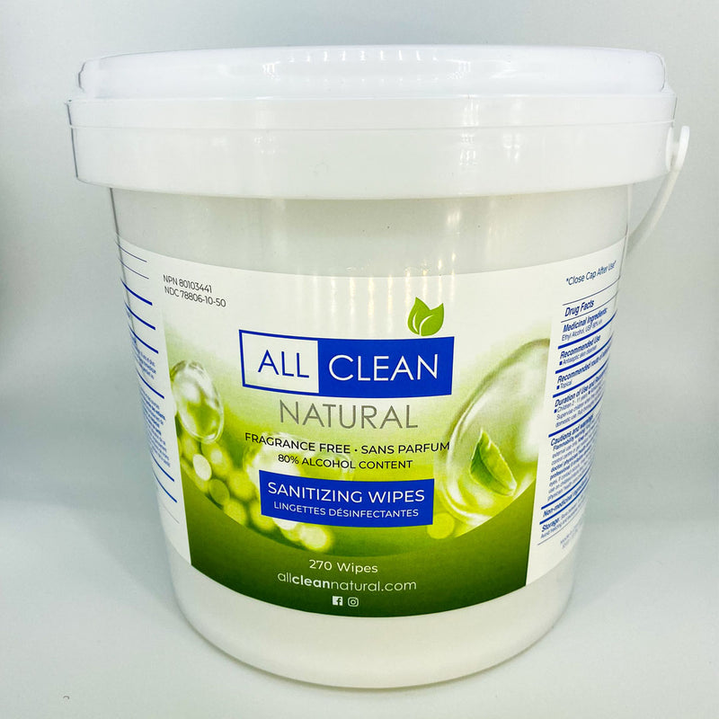 All Clean Natural Sanitizing Wipes - 270 Count
