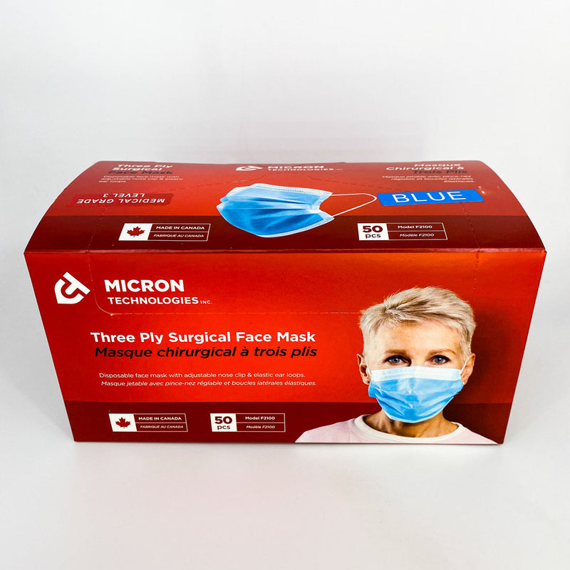 Micron 3-Ply Surgical Level 3 Face Mask - 50/box Better Health Medical Shop Medical Mask