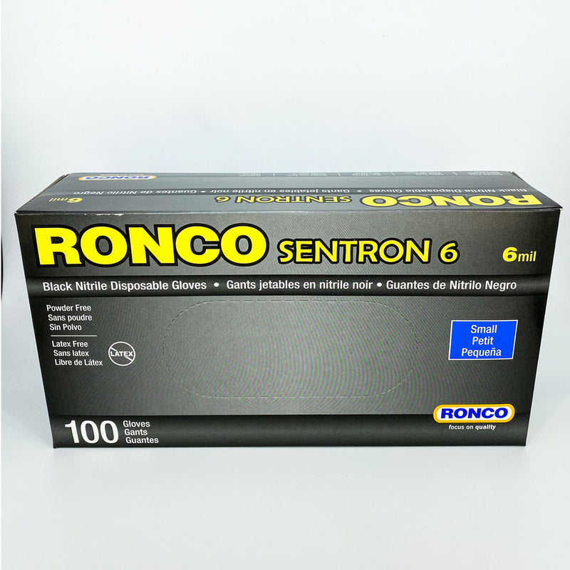 Ronco SENTRON™ 6 Medical Black Nitrile Gloves SM 100/box Better Health Medical Shop Medical Gloves