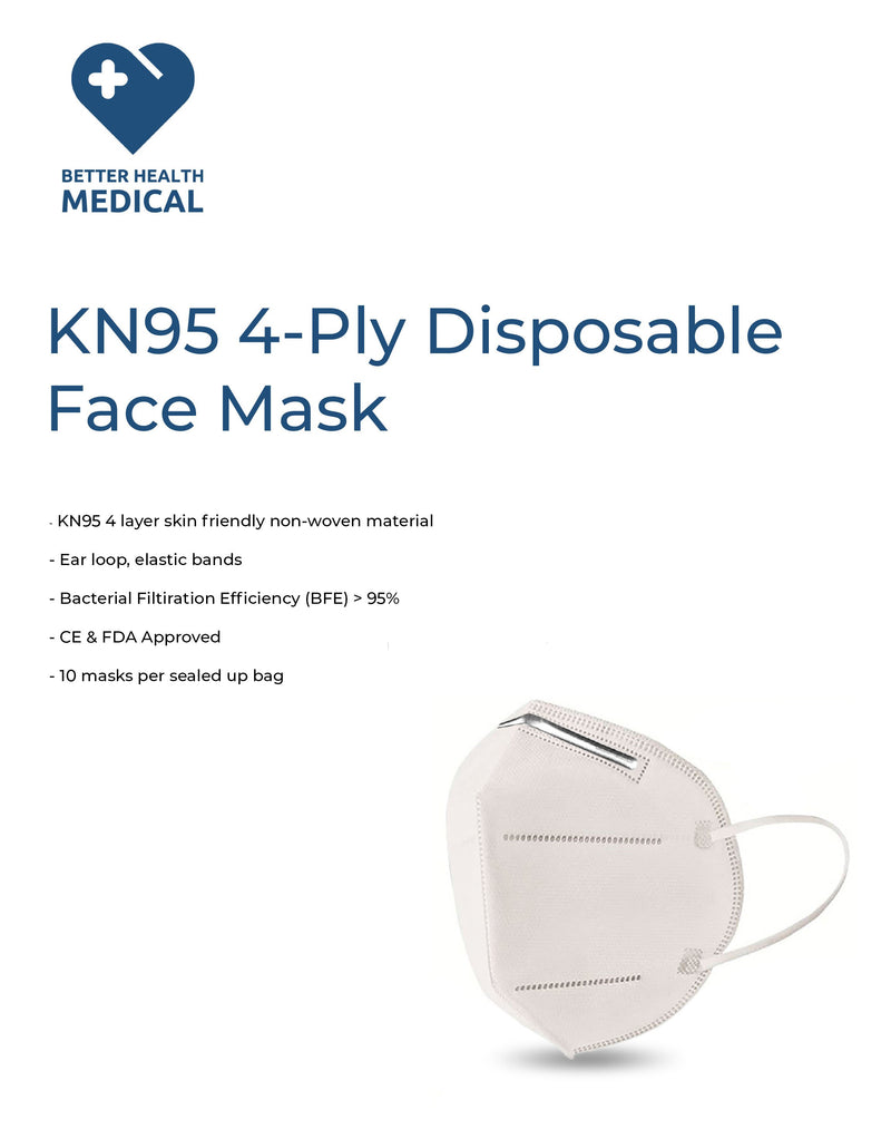 KN95 Mask 10pc/package - Better Health Medical Shop
