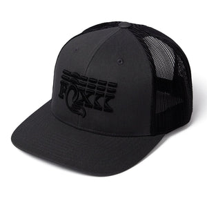 Stacked Flat Brim Trucker Hat