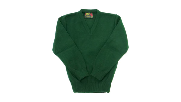 Green V Neck Jumper Acrylic