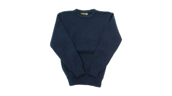 Navy Round Neck Jumper Acrylic