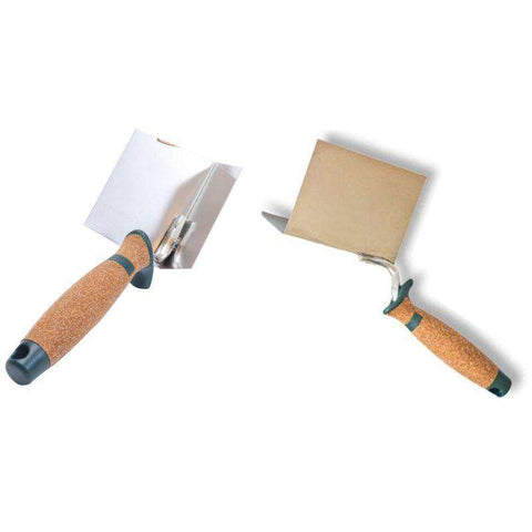 Corner Finishing Trowel - Stainless Steel & Cork Handle | ZuperPRO