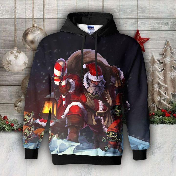 Santa Claus and the dwarfs Hoodie 2020
