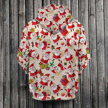 Load image into Gallery viewer, Christmas Pretties Santa, Sleigh, Presents 3D Hoodie