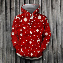 Load image into Gallery viewer, Red Christmas Pretties 3D Hoodie Christmas
