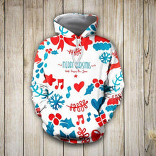 Load image into Gallery viewer, Christmas Pretties Music Heart Star 3D Hoodie