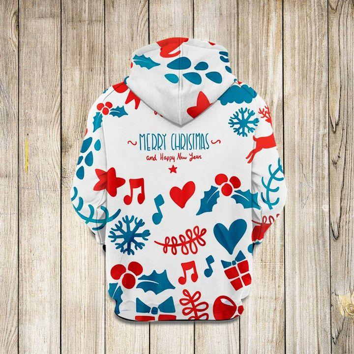 Christmas Pretties Music Heart Star 3D Hoodie