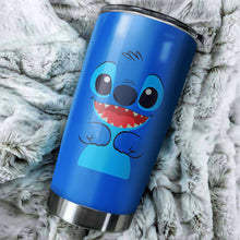 Load image into Gallery viewer, Stitch Smile Tumbler - perfect gift Stainless Traveling Mugs