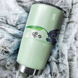 Stitch With Totoro Friends Tumbler - perfect gift Stainless Traveling Mugs
