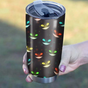 Cat Creepy Face Pattern Tumbler