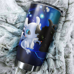 Cute Toothless And Light Fury In Night How To Train Your Dragon Tumbler