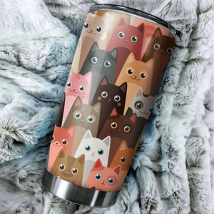 Cute Cat Head Tumbler