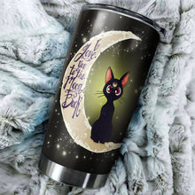 Load image into Gallery viewer, Cute Cat Love Moon And Back Tumbler