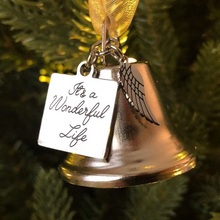 Load image into Gallery viewer, Christmas Ornaments Angel Wings Bell - It's A Wonderful Life Memorial Ornament