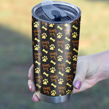 Load image into Gallery viewer, Dog Foot Print Pattern Tumbler